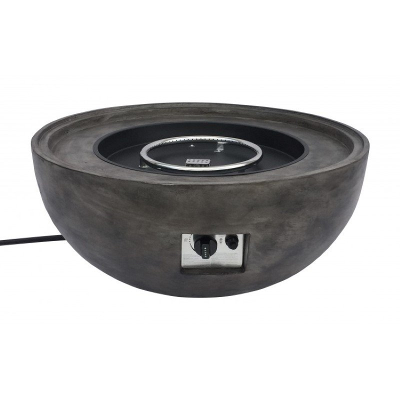 Armen Living Castaic Outdoor Patio Fire Pit in Brown with Concrete Texture Finish (LCFPCABR)
