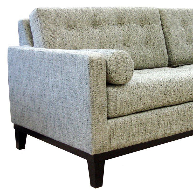 Armen Living Centennial Sofa in Ash Fabric (LC7253AS)