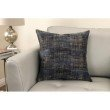 Armen Living Coban Contemporary Decorative Feather and Down Throw Pillow in Blue Dusk Jacquard Fabric (LCPICO20BD)