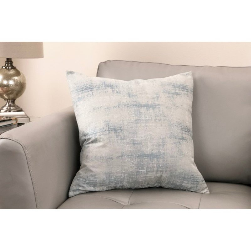 Armen Living Coban Contemporary Decorative Feather and Down Throw Pillow in Sea Foam Jacquard Fabric (LCPICO20SEAF)