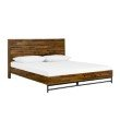 Armen Living Cusco 3 Piece Acacia King Bed and Nightstands Bedroom Set in Antique Acacia (SETCUBDKG3A)