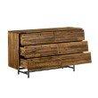 Armen Living Cusco Rustic Acacia 6 Drawer Dresser (LCCUDRAC)