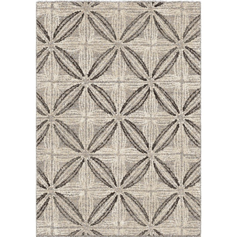 Armen Living Daisy Contemporary 5' x 8' Area Rug in Grey and Cream (LCDSRU5X8SIL)