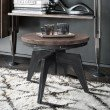 Armen Living Dayton Industrial Coffee Table in Industrial Grey and Pine Wood Top (LCDTCOSBPI)