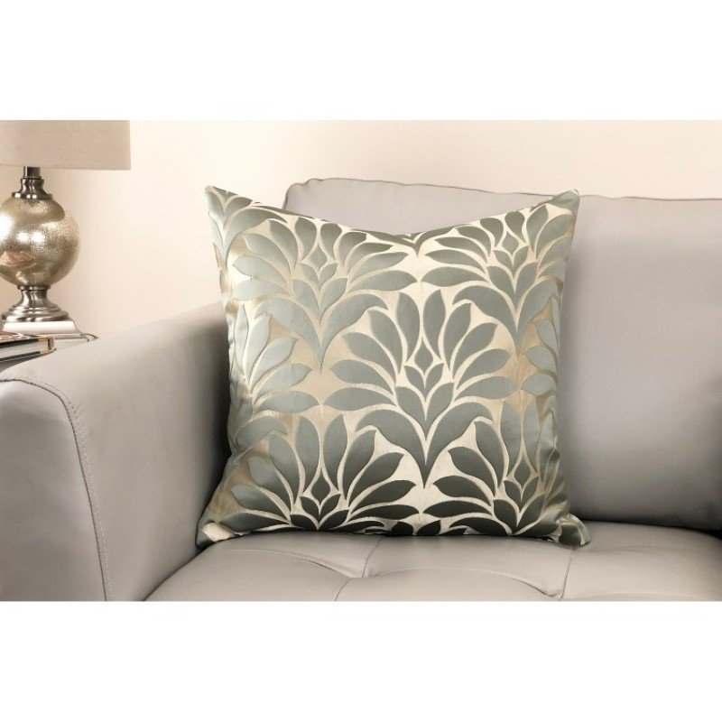 Armen Living Gisela Contemporary Decorative Feather and Down Throw Pillow in Jade Jacquard Fabric (LCPIGI20JADE)