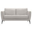 Armen Living Hope Contemporary Loveseat in Genuine Dove Grey Leather with Black Metal Legs (LCHP2GR)