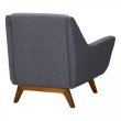 Armen Living Janson Mid-Century Sofa Chair in Champagne Wood Finish and Dark Grey Fabric (LCJO1GR)