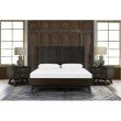Armen Living Loft 3 Piece Acacia King Bed and Nightstands Bedroom Set in Brushed Brown-Gray (SETLFBDKG3A)