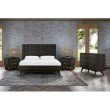 Armen Living Loft 4 Piece Acacia King Bedroom Set with Dresser and Nightstands in Brushed Brown-Gray (SETLFBDKG4A)