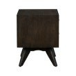Armen Living Loft Acacia Mid-Century 2 Drawer Night stand (LCLFLABR)