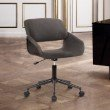 Armen Living Lowell Mid-Century Grey Faux Leather Task Chair (LCLWOFBLGR)