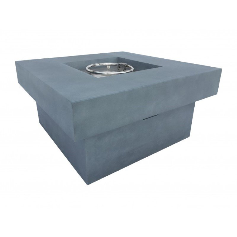 Armen Living Marquee Outdoor Patio Fire Pit in Light Grey with Concrete Texture Finish (LCFPMQGR)