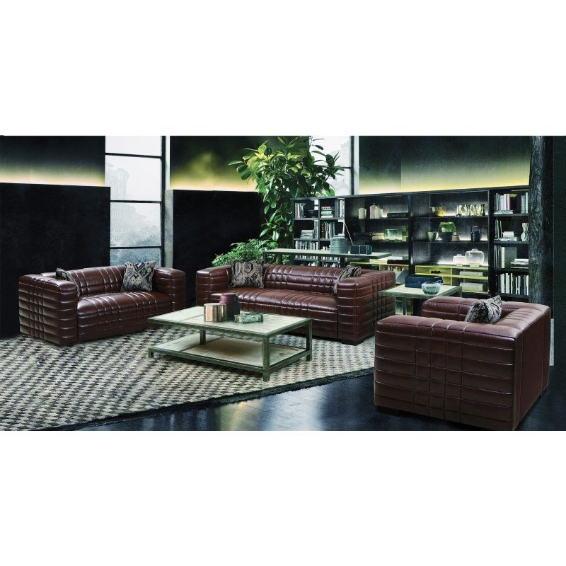 Armen Living Maxton Sofa in Brown Leather