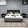 Armen Living Mohave 3 Piece Acacia Queen Bed and Nightstands Bedroom Set in Tundra Gray (SETMVBDQN3A)