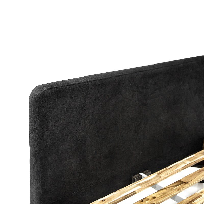 Armen Living Mohave Mid-Century Tundra Grey Acacia King Platform Bed (LCMVBDTGKG)