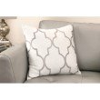 Armen Living Paxton Contemporary Decorative Feather and Down Throw Pillow in Light Gray Jacquard Fabric (LCPIPA20LGRAY)