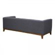 Armen Living Prism Mid-Century Sofa in Champagne Wood Finish and Dark Grey Fabric (LCPS3GR)