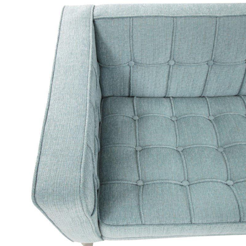 Armen Living Roxbury Sofa In Spa Blue Fabric (LC10103SB)