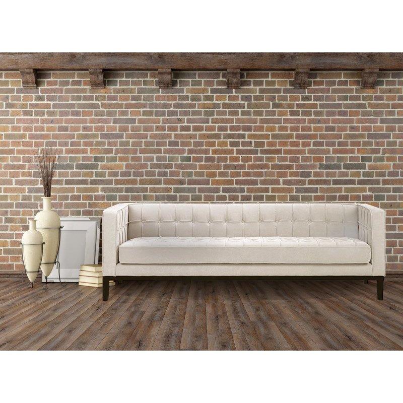 Armen Living Roxbury Sofa In Tufted Cream Fabric (LC10103CR)