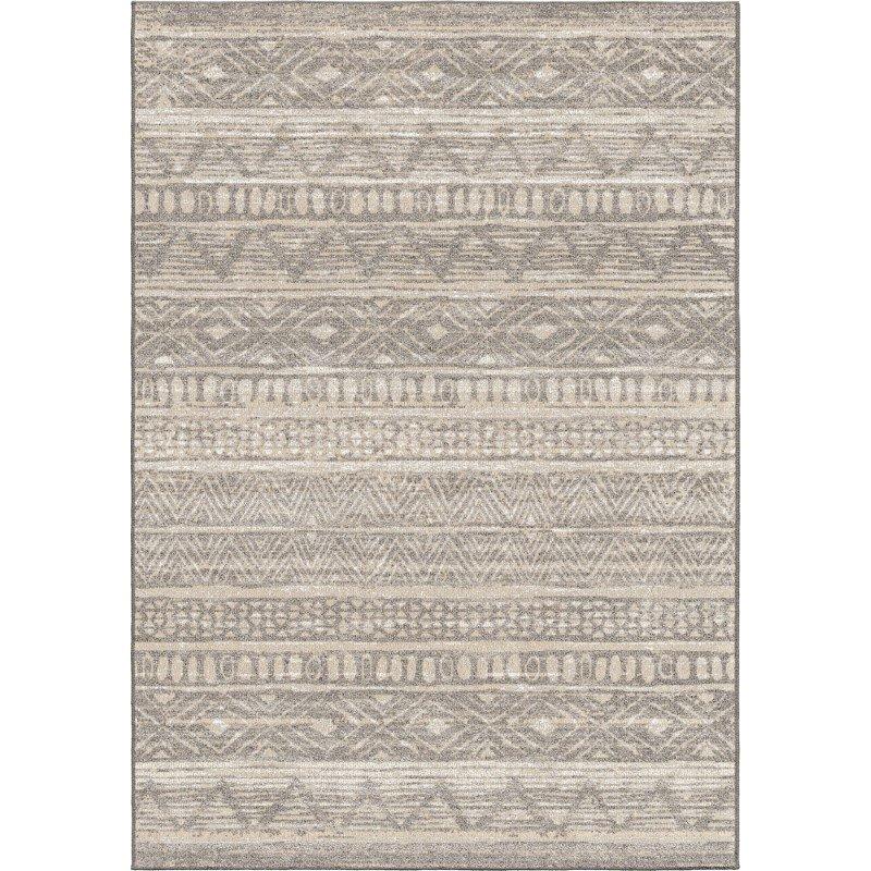 Armen Living Togo Contemporary 5' x 8' Area Rug in Grey and Cream (LCTORU5X8SIL)