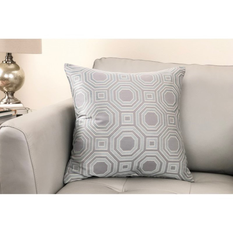 Armen Living Warren Contemporary Decorative Feather and Down Throw Pillow in Mist Jacquard Fabric (LCPIWA20MIIST)