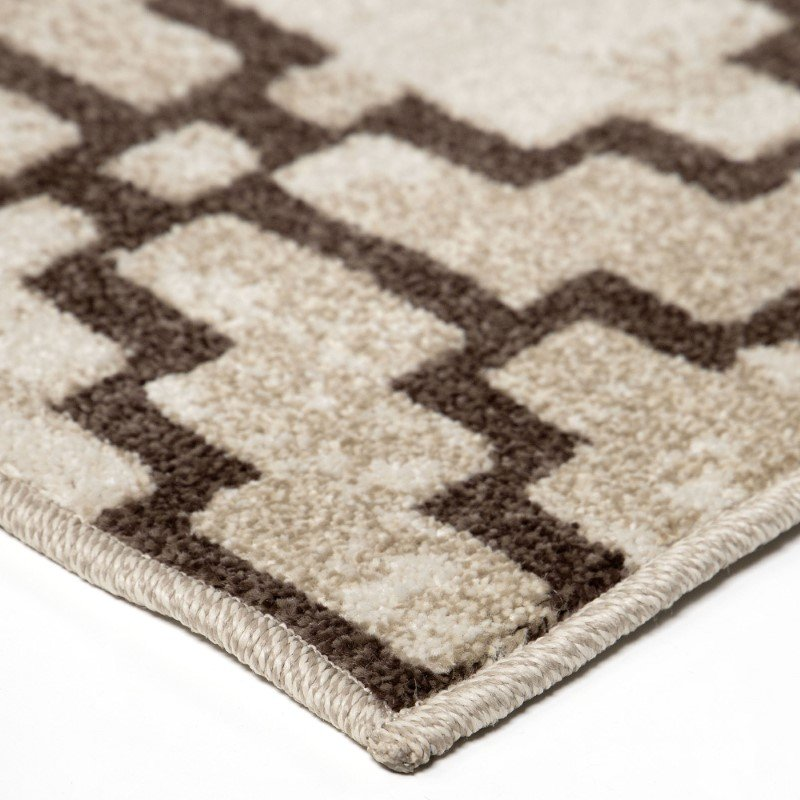 Armen Living Windmeyer Contemporary 5' x 8' Area Rug in Beige and Brown (LCWMRU5X8DW)