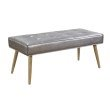Avenue Six Amity Bench in Sizzle Pewter