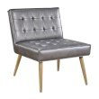 Avenue Six Amity Tuffed Accent Chair in Sizzle Pewter