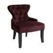Avenue Six Curves Hour Glass Accent Chair in Port