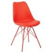 Avenue Six Emerson Student Side Chair in Red