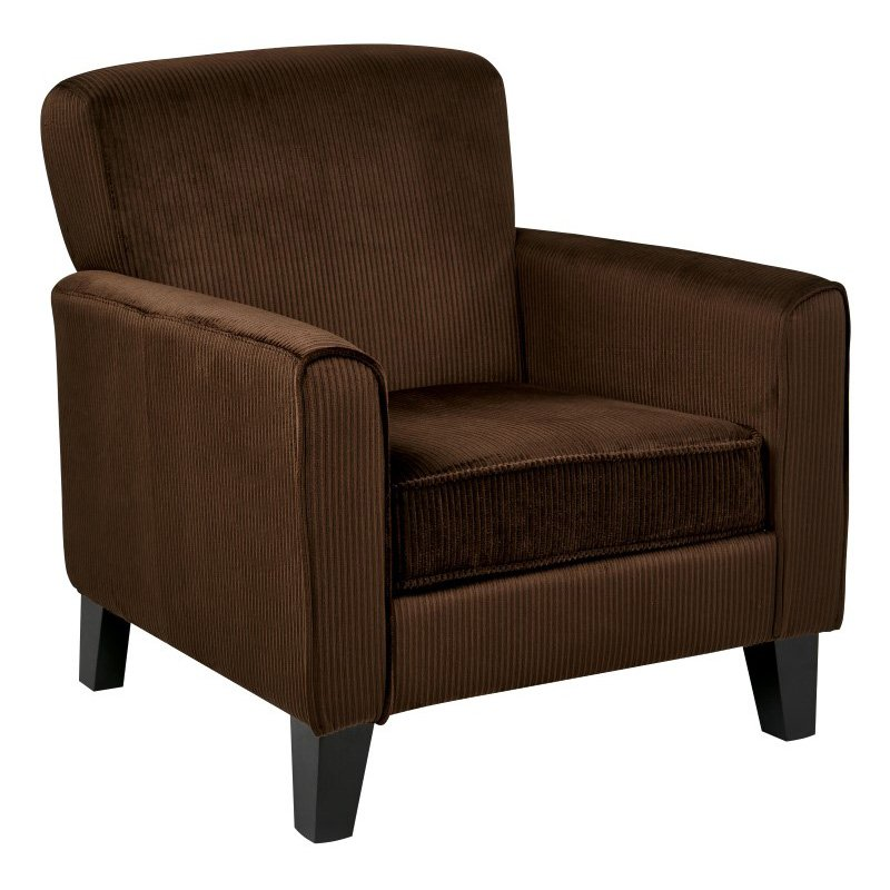 Avenue Six Hardwood Armchair in Corduroy Coffee