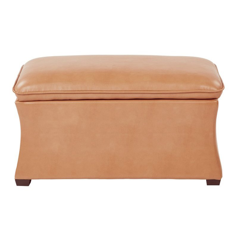 Avenue Six Hourglass Storage Ottoman in Deluxe Eco Camel