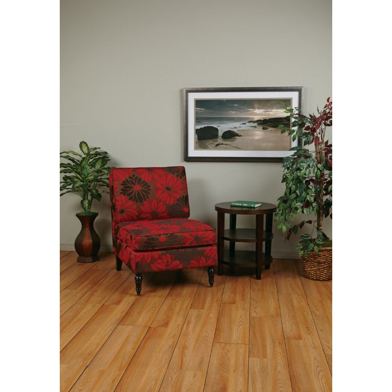 Avenue Six Madrid Accent Chair in Groovy Red