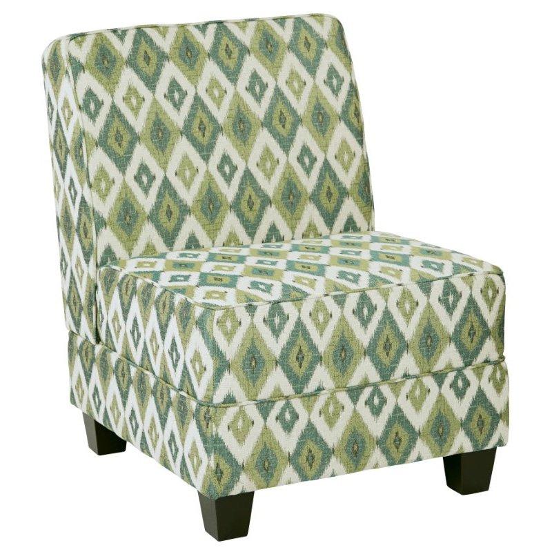 Avenue Six Milan Chair in Santa Fe Aqua
