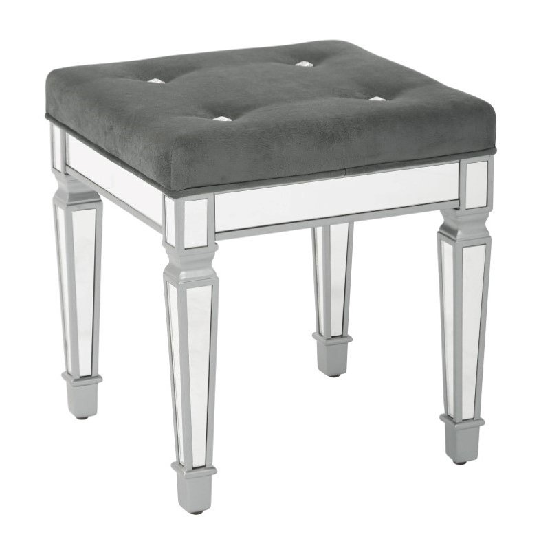 """Avenue Six Reflections 18"""" Stool in Graphite"""