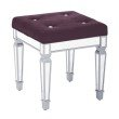 """Avenue Six Reflections 18"""" Stool in Port"""