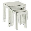 Avenue Six Reflections Nesting Tables in Silver Mirror
