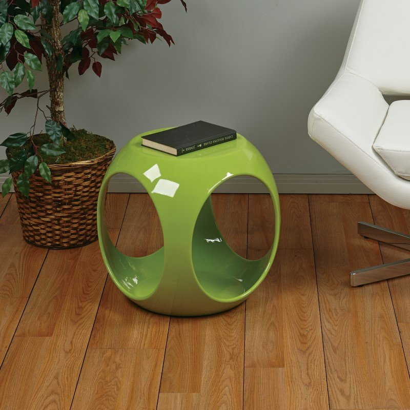 Avenue Six Slick Accent Table in Green