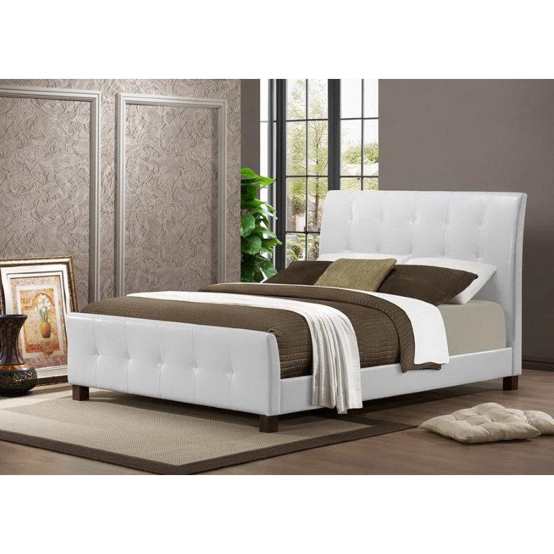 Baxton Studio Amara White Modern Bed in Full Size