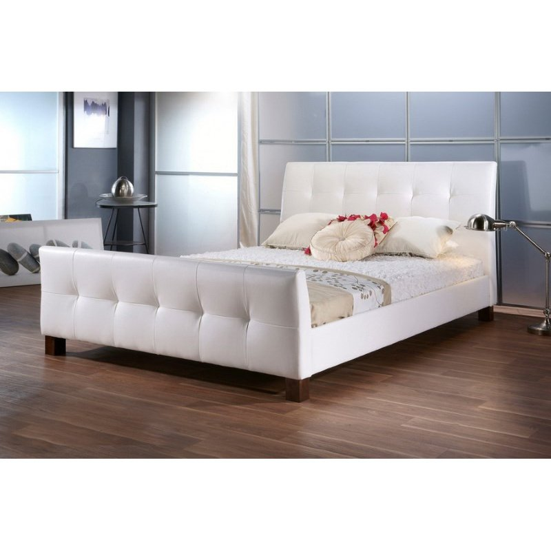 Baxton Studio Amara White Modern Bed in Queen Size