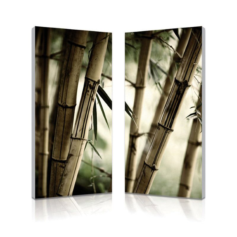 Baxton Studio Bamboo Stalks Mounted Photography Print Diptych