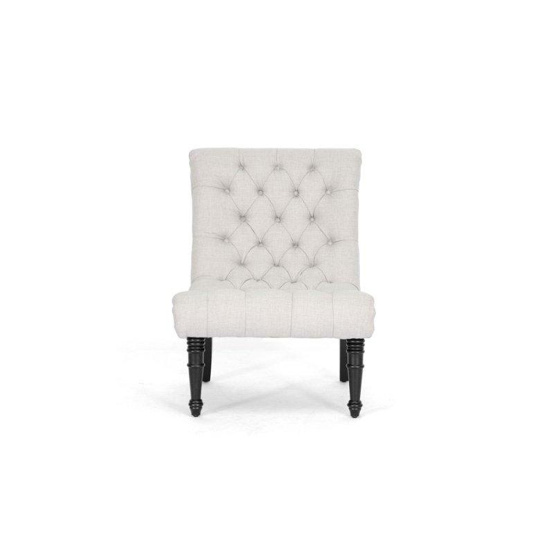 Baxton Studio Caelie Beige Linen Modern Lounge Chair