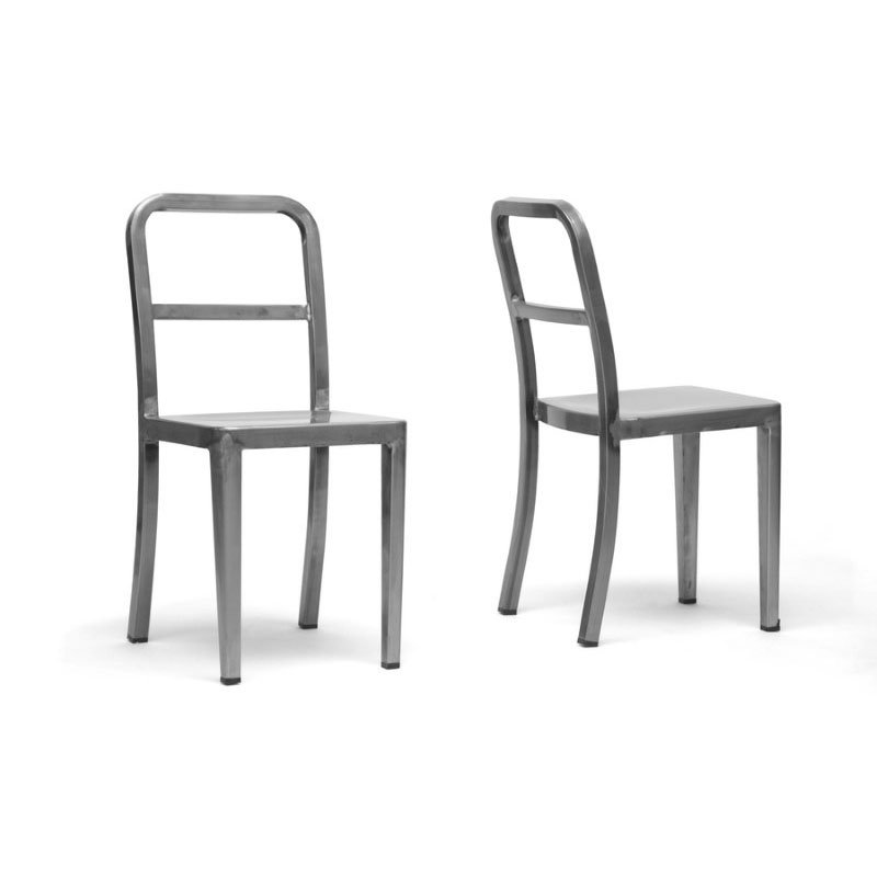 Baxton Studio Echo Gunmetal Modern Dining Chair (Set of 2)