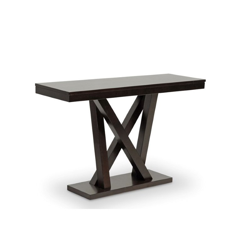 Baxton Studio Everdon Dark Brown Modern Sofa Table
