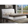 Baxton Studio Jeslyn White Modern Bed with Tufted Headboard in Queen Size