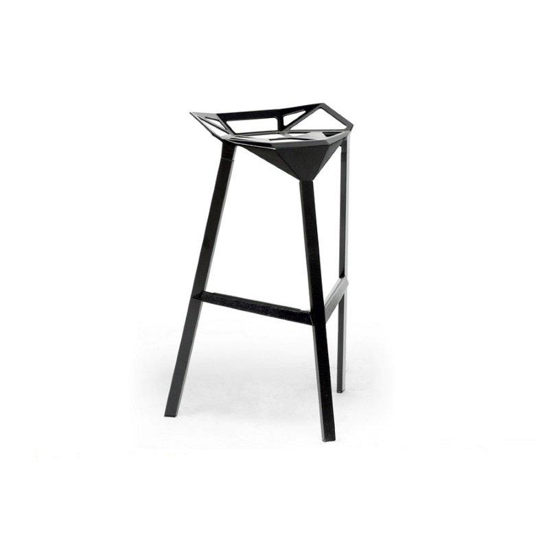 Baxton Studio Kaysa Black Aluminum Modern Bar Stool (Set of 2)