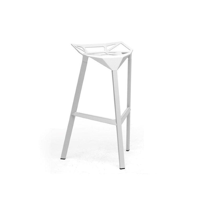 Baxton Studio Kaysa White Aluminum Modern Bar Stool (Set of 2)