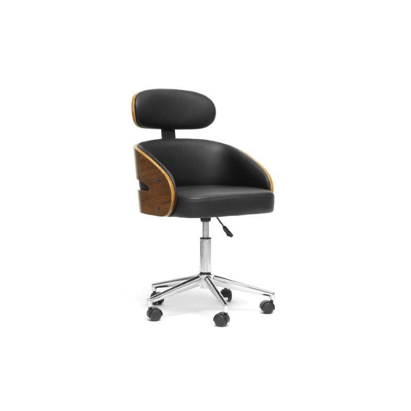 Baxton Studio Kneppe Black Modern Office Chair
