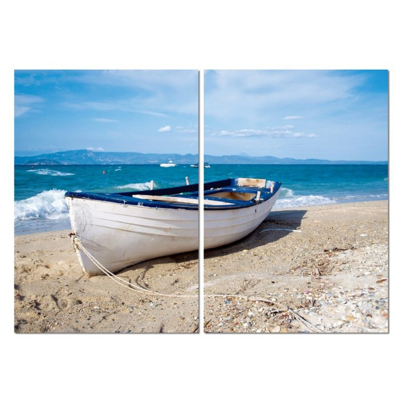 Baxton Studio Leisurely Afternoon Mounted Photography Print Diptych