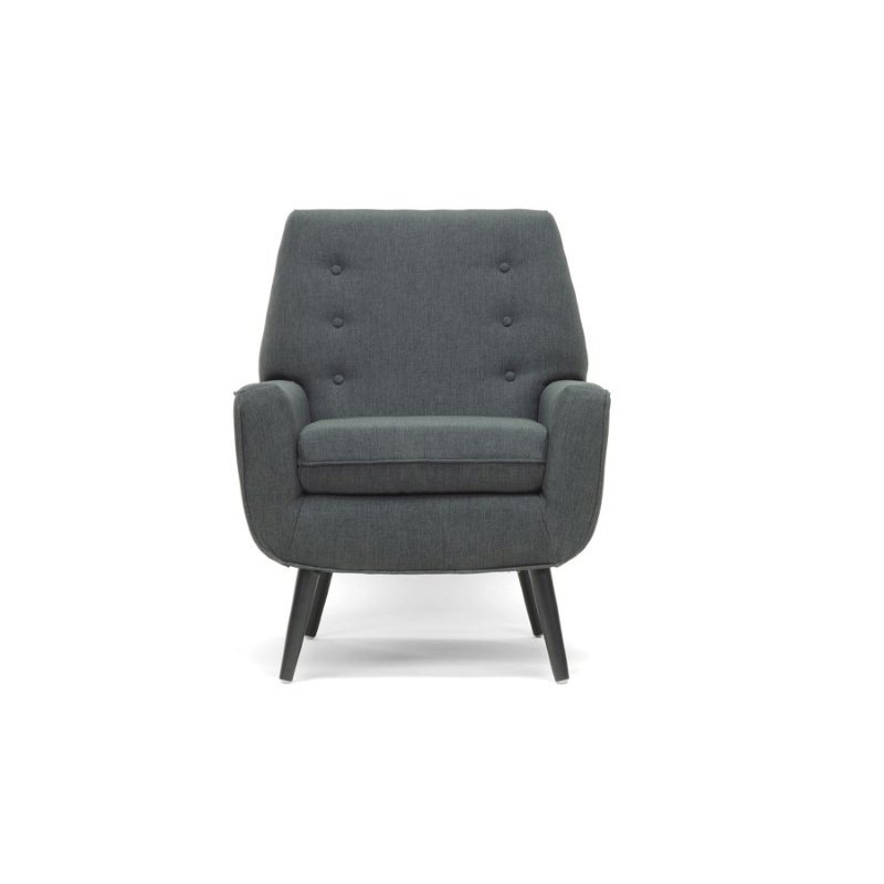 Baxton Studio Levison Gray Linen Modern Accent Chair